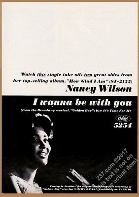 1964 Nancy Wilson photo I Wanna Be With You record release trade ad