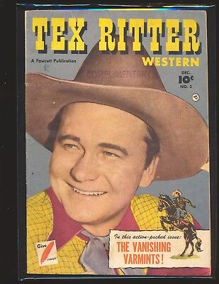 Tex Ritter Western # 2 VG Cond.
