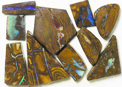 AUSTRALIAN NATURAL BOULDER OPAL 330.5c ROUGH RUB PARCEL OCA8862