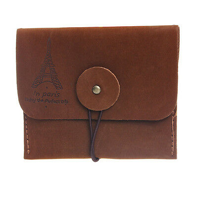 Retro Paris Tower Memory Coin Purse Holder Brown purses Storage Bag