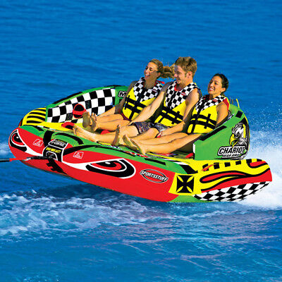 Sports Stuff Chariot Warbird 3 Towable WaterSki Tube Inflatable Biscuit Boat Rid