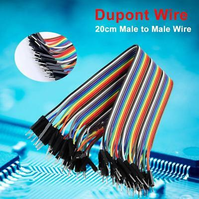 40Pcs 20cm Good Male to Male Dupont Wire Jumper Cable for Arduino Breadboard #K