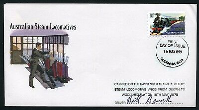 Australia 1978 Quorn to Wooshed Flat train - Signed Commemorative Cover