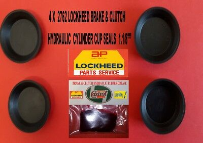 "2762. 4 New Lockheed Cup Seals 1.1/8"" Diameter."