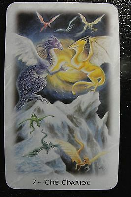 7-The Chariot The Celtic Dragon Tarot Single Replacement Card Excellent