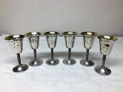 Set Of 1976 Silver Goblets (Nearly A Kilo In Weight !!)