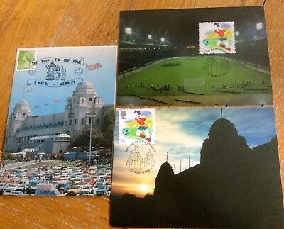 FOOTBALL POSTCARD WEMBLEY STADIUM x 3