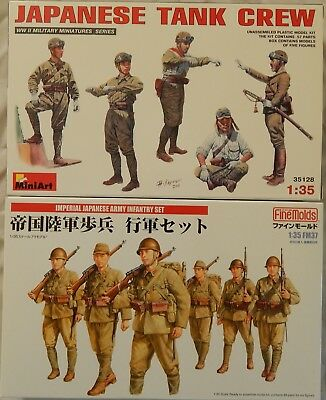 Fine Molds Imperial Japanese Army Infantry Set + MiniArt Japanese Tank Crew OVP