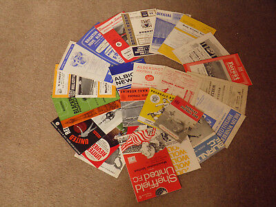 Collection Of 24 1960s Football Programmes, Listed.