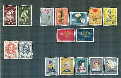 N60 Netherlands    All stamps of the year 1960  in complete sets   Very Fine MNH