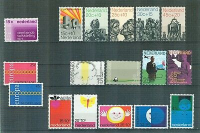 N71 Netherlands    All stamps of the year 1971 in complete sets   Very Fine MNH