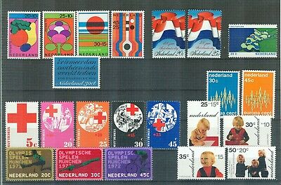 N72 Netherlands    All stamps of the year 1972 in complete sets   Very Fine MNH