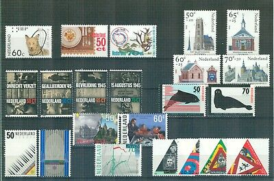 N85 Netherlands    All stamps of the year 1985 in complete sets   Very Fine MNH