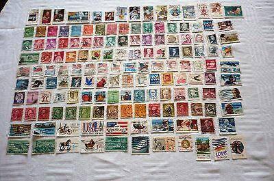 Job Lot 150 Used United States of America Postage Stamps - Off Paper