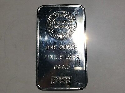 One Ounce Solid Silver Barr Stunning Not Scrap Lot 171L