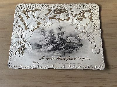 VINTAGE NEW YEAR CARD used