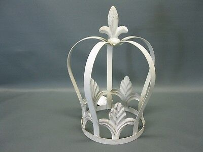 Planter Plant Cover Growth Support Metal Crown Decoration 30 cm Shabby Vintage