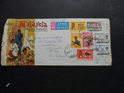 Malaysia Illustrated Cover  7 Stamps See Photos