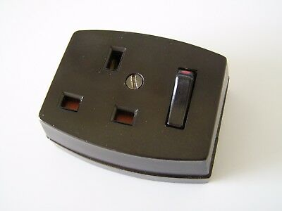 Vintage Retro Mid Century Bakelite Plug Socket  Switch - Empire ~ Free UK Post