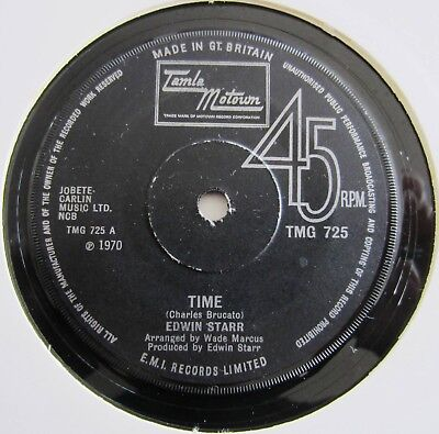 Edwin Starr : Time / Running Back And Forth - 1970 Uk Issue.