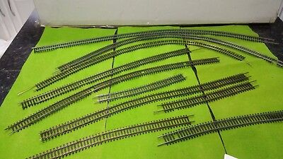 Approx 16 foot flexible track for 00 gauge hornby railway + 30 foot curved track