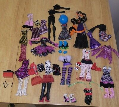 Monster High doll clothes outfits shoes & accessories bundle