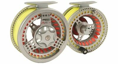 AIRFLO Airlite #10/12 salmon fly reel loaded w backing and Airflo spey line