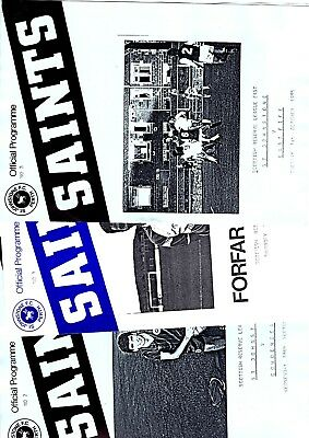 3 x SCOTTISH RESERVE LEAGUE EAST Programmes - St Johnstone 1985 - 1987