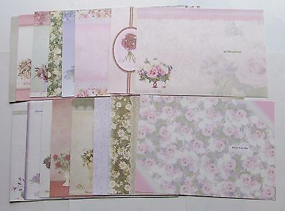 Hunkydory Floral Luxury Card Inserts x 16 A4 Sheets