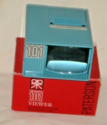 VINTAGE 35mm 1970's PATERSON DESIGN 101 VIEWER WITH BOX IN VGC.