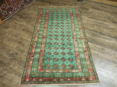 Ca1930s VE DY ANTIQUE PERSIAN QASHQAI TURKEMAN SERAPI 3.7x6.9 ESTATE SALE RUG