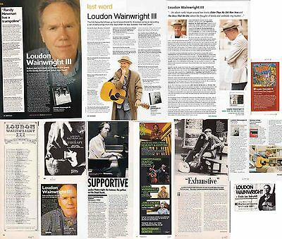 LOUDON WAINWRIGHT III : CUTTINGS COLLECTION -interviews adverts-