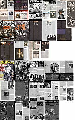 BLACK SABBATH : CUTTINGS COLLECTION -adverts interviews-