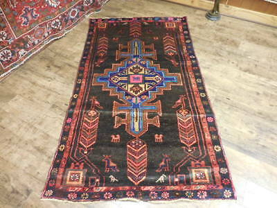 Ca1930 VGDY ANTIQUE PERSIAN HERIZ SERAPI VISS KARACHE 3.6x6.5 ESTATE SALE RUG