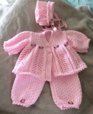 hand knitted dolls clothes suitable for new born baby or 20inch reborn