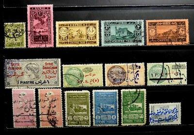 Syria: Back Of Book Postage Due, Revenue Stamp Collection