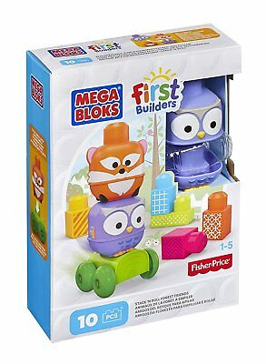 Mega Bloks First Builders Stack-n-Roll Forest Friends