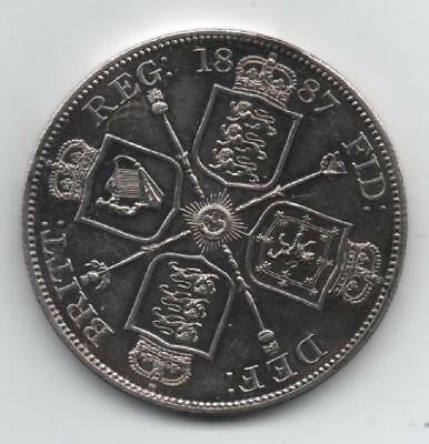 1887  proof double florin