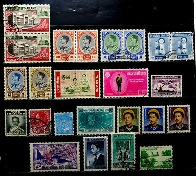 Southeast Asia: Stamp Collection Thailand, Cambodia, Vietnam