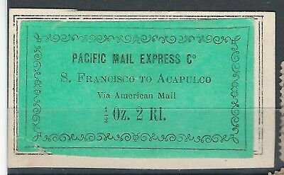 #33 USA Pacific express local private stagecoach antique mail Alcapulco mexico