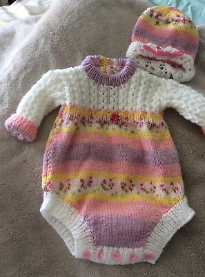 hand knitted dolls clithes suitable for 20-22 inch reborn or new baby