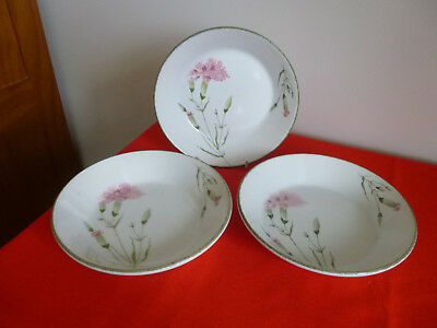 "3 X Midwinter Stonehenge ~  Invitation  ~ 7 1/2 "" Dessert / Cereal / Soup Bowls"