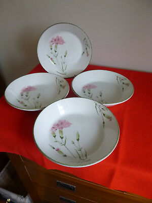 "4 X Midwinter Stonehenge ~  Invitation  ~ 7 1/2 "" Dessert / Cereal / Soup Bowls"