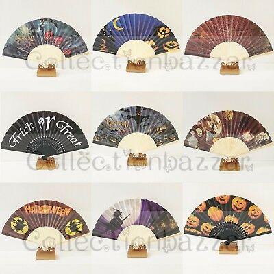 Halloween Party Paper Hand Fan 9 patterns You Pick