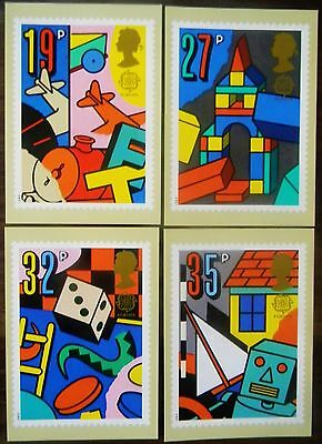 Gb 1989 ' Games And Toys ' 4 Phq Card Fdi Set 118 - Special Cancellations.