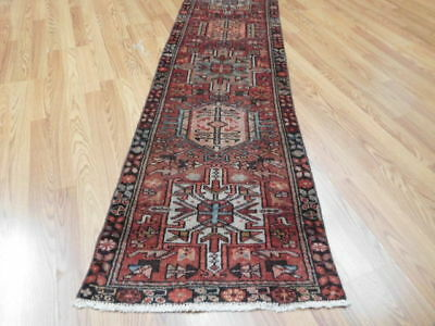 Ca1930 VGDY ANTIQUE PERSIAN HERIZ SERAPI VISS KARACHE 2x12.1 ESTATE SALE RUG