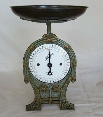 ANTIQUE Krups KITCHEN  SCALE CAST IRON WITH ENAMEL DISPLAY EXCELLENT C.