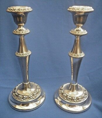 Ianthe Vintage Pair Of Silver Plate Candle Sticks
