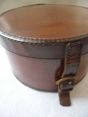Antique/Vintage Stitched Leather Collar Box