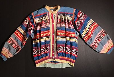 Classic FLORIDA SEMINOLE PATCHWORK / APPLIQUE MAN'S SHIRT, Shell Buttons, c1925